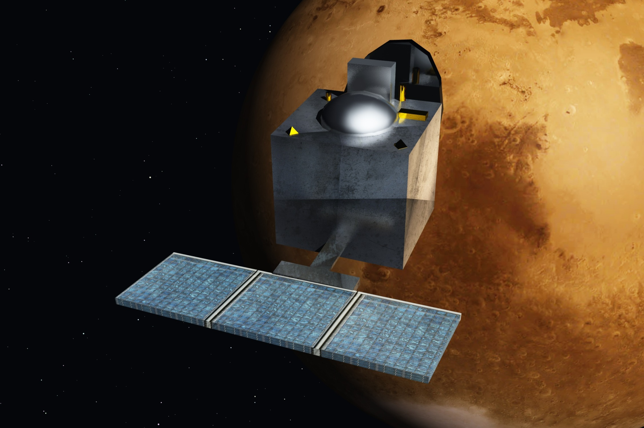 Mars_Orbiter_Mission_-_India_-_ArtistsConcept (Source: Wikimedia Commons)